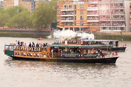 Genuine Victorian luxury steamboats . . .