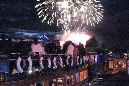 end your evening with the spectcalar fireworks display
