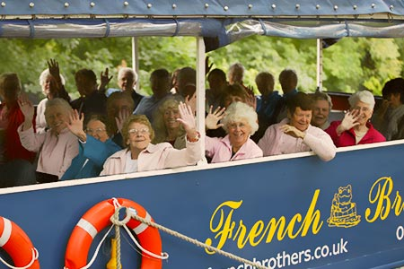 A group enjoying a cruise from Maidenhead