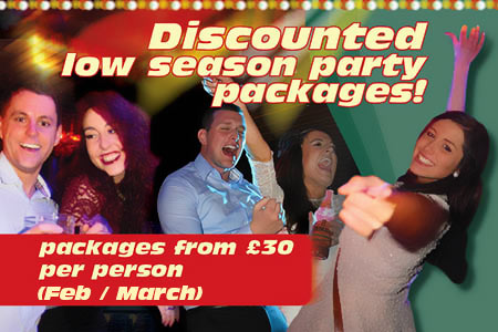 Discounted low season party packages